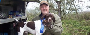 German Shorthaire Pointer with Jim Shank